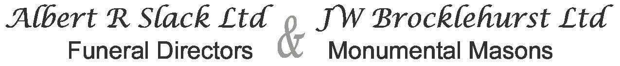 Albert R Slack and JW Brocklehurst Ltd Funerals Logo